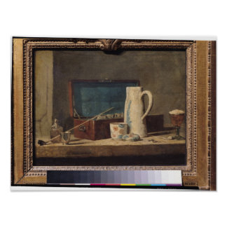 Still Life of Pipes and a Drinking Glass Poster