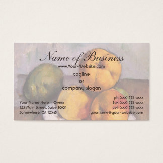 Still Life, Quince, Apples, Pears by Paul Cézanne Business Card