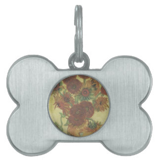 Still Life: Sunflowers Pet Name Tag