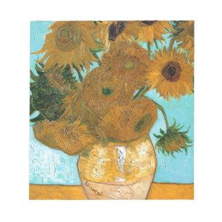 Still Life: Sunflowers - Vincent van Gogh Notepad