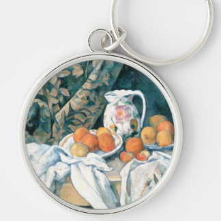 Still Life with a Curtain by Cezanne Key Chain