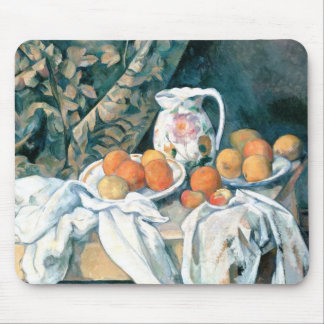 Still Life with a Curtain by Cezanne Mouse Pad