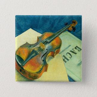 Still Life with a Violin, 1921 15 Cm Square Badge