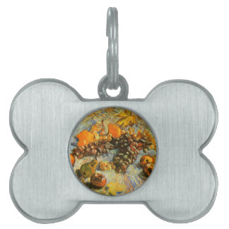 Still Life with Apples, Pears, Grapes - Van Gogh Pet Name Tag