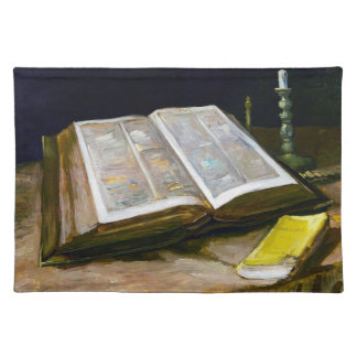 Still Life with Bible by Vincent Van Gogh Placemat
