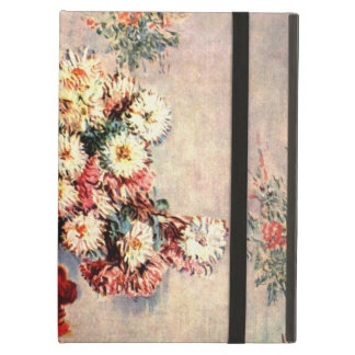 Still life with Chrysanthemums by Claude Monet Cover For iPad Air