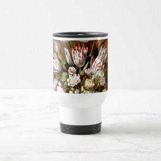Still life with flowers 1639 - Hans Bollongier Travel Mug