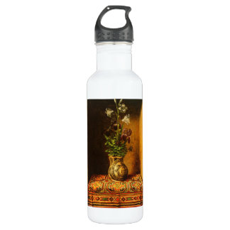 Still life with Flowers by Hans Memling 710 Ml Water Bottle