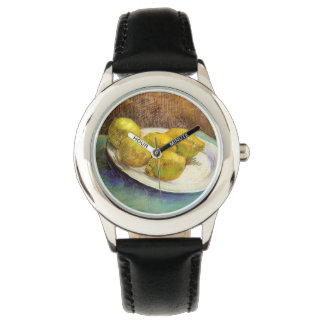 Still Life with Lemons on a Plate Wrist Watch