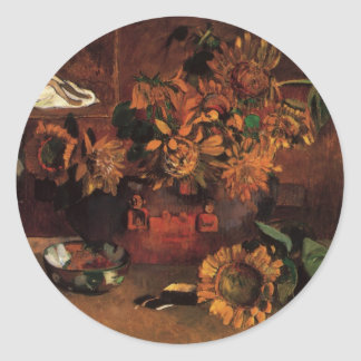 Still Life with L'Esperance (Hope) by Paul Gauguin Classic Round Sticker