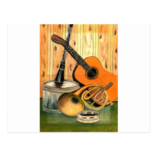 Still Life with Musical Instruments Postcard