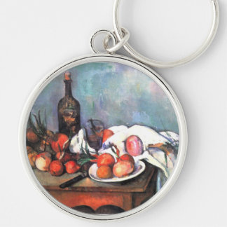 Still Life with Onions by Paul Cezanne Key Chain