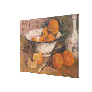 Still life with Oranges, 1881 Canvas Print