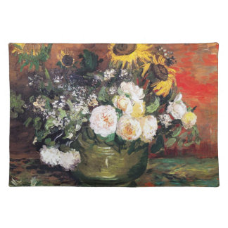Still Life with Roses and Sunflowers by Vincent Placemat