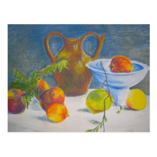 Still Life with Scattered Fruit Postcard