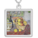 Still Life with Tureen, c.1877 Square Pendant Necklace