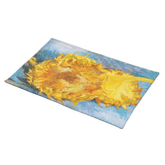 Still Life with Two Sunflowers by Vincent Van Gogh Placemat