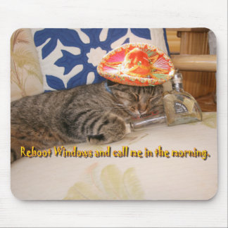 StitchKitty and tequila Mouse Pad