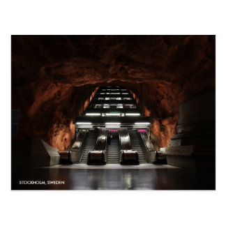 Stockholm Underground I with City Name Postcard
