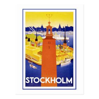 """""""Stockholm"""" Vintage Travel Poster Postcard"""