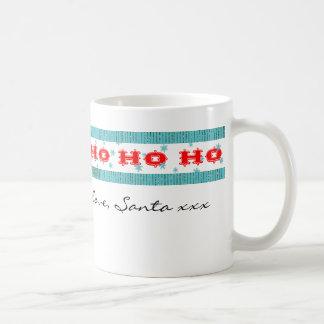 Stocking Stuffer from Santa | Red & Aqua Ho Ho Ho Coffee Mug