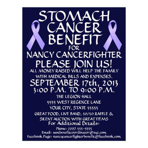 Stomach Cancer Ribbon Benefit Flyer
