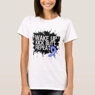 Stomach Cancer Wake Up Kick Butt Repeat T-Shirt