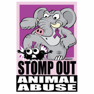 Stomp Out Animal Abuse Standing Photo Sculpture