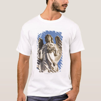 Stone Angel Looking Down Statue in Buenos Aires T-Shirt