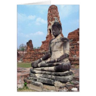 Stone Buddha Card