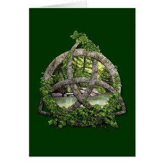 Stone Celtic Trinity Knot Card