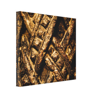 Stone Column Interlaced Detail Wrapped Canvas Gallery Wrapped Canvas