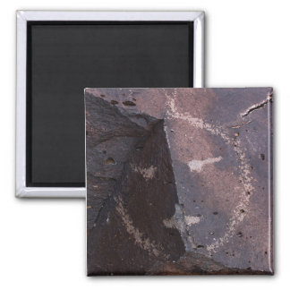 Stone Face Square Magnet