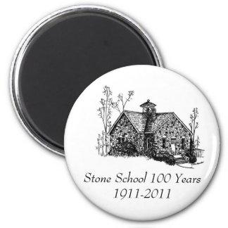 Stone School 100 Years Magnet