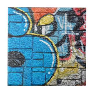 stone wall graffiti tile