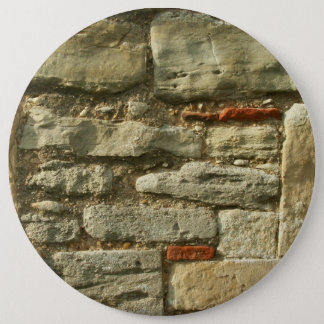 Stone Wall Image. 6 Cm Round Badge