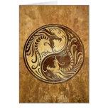 Stone Yin Yang Dragons
