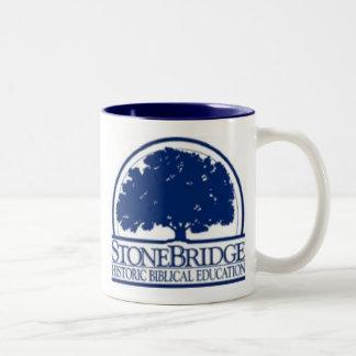 StoneBridge, From tiny acornsmighty oaks grow. Two-Tone Coffee Mug