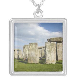 Stonehenge (circa 2500 BC), UNESCO World 3 Silver Plated Necklace