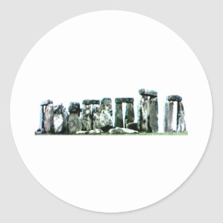Stonehenge The MUSEUM Zazzle Gifts Round Stickers