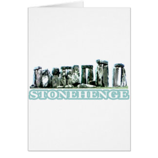 Stonehenge White text The MUSEUM Zazzle Gifts Card