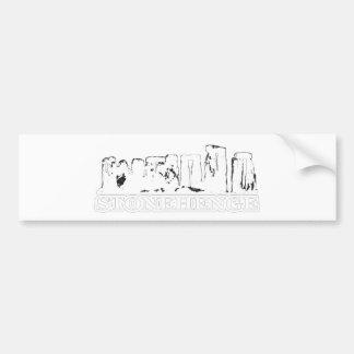 Stonehenge White transp The MUSEUM Zazzle Gifts Bumper Sticker