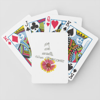 stop and smell to flower bicycle playing cards