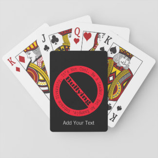 Stop Bullying-Logo by Shirley Taylor Poker Deck