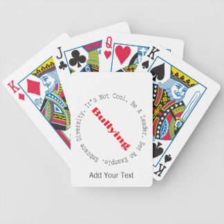 Stop Bullying-Outline by Shirley Taylor Bicycle Playing Cards