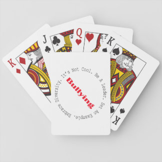 Stop Bullying-Outline Playing Cards