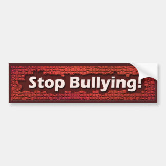 Stop Bullying Red Brick Bumper Sticker