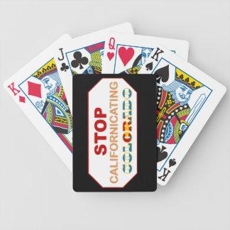 Stop Californicating Colorado playing cards