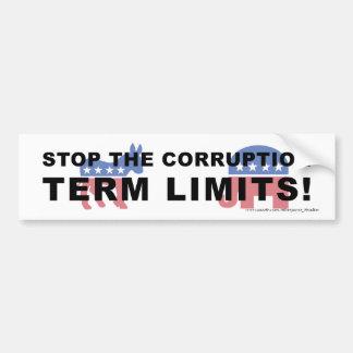 Stop Corruption, Term Limits - Bumper Bumper Stickers