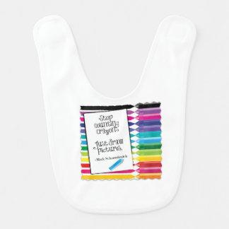 Stop Counting Crayons Baby Bib